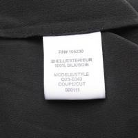 Equipment camicetta di seta in nero