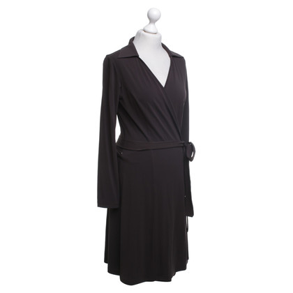 Piu & Piu Wrap dress in dark brown