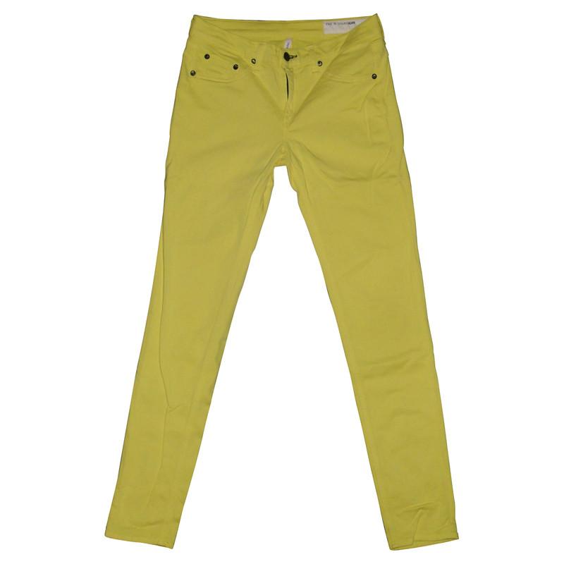 Rag & Bone Legging in neon yellow