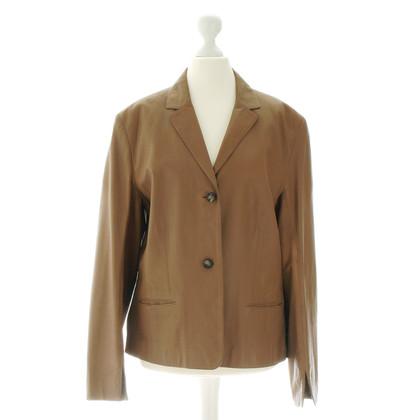 René Lezard Brown leather Blazer