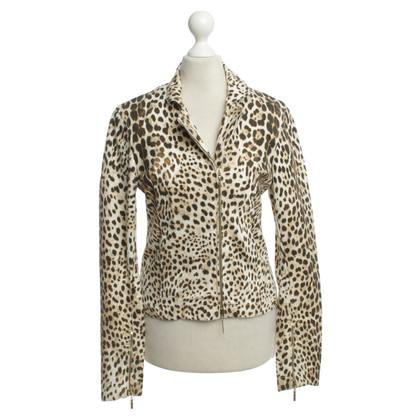 Roberto Cavalli Denim jacket with animal print