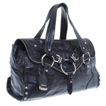 DKNY Handtasche mit Lackbeschichtung