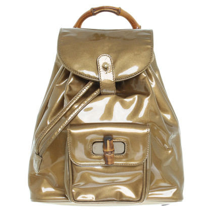 "Gucci ""Vintage Bamboo Mini Backpack"" in Bronze"