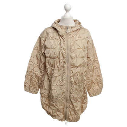 Moncler impermeabile lungo in beige
