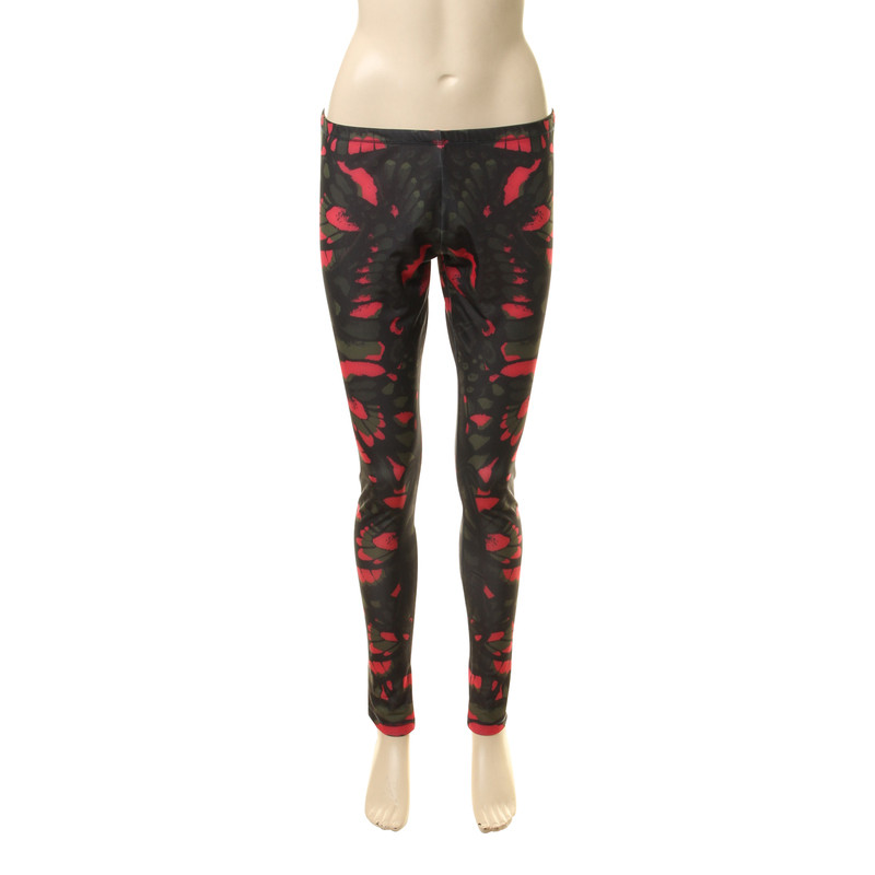 mcq alexander mcqueen leggings mit muster second hand. Black Bedroom Furniture Sets. Home Design Ideas
