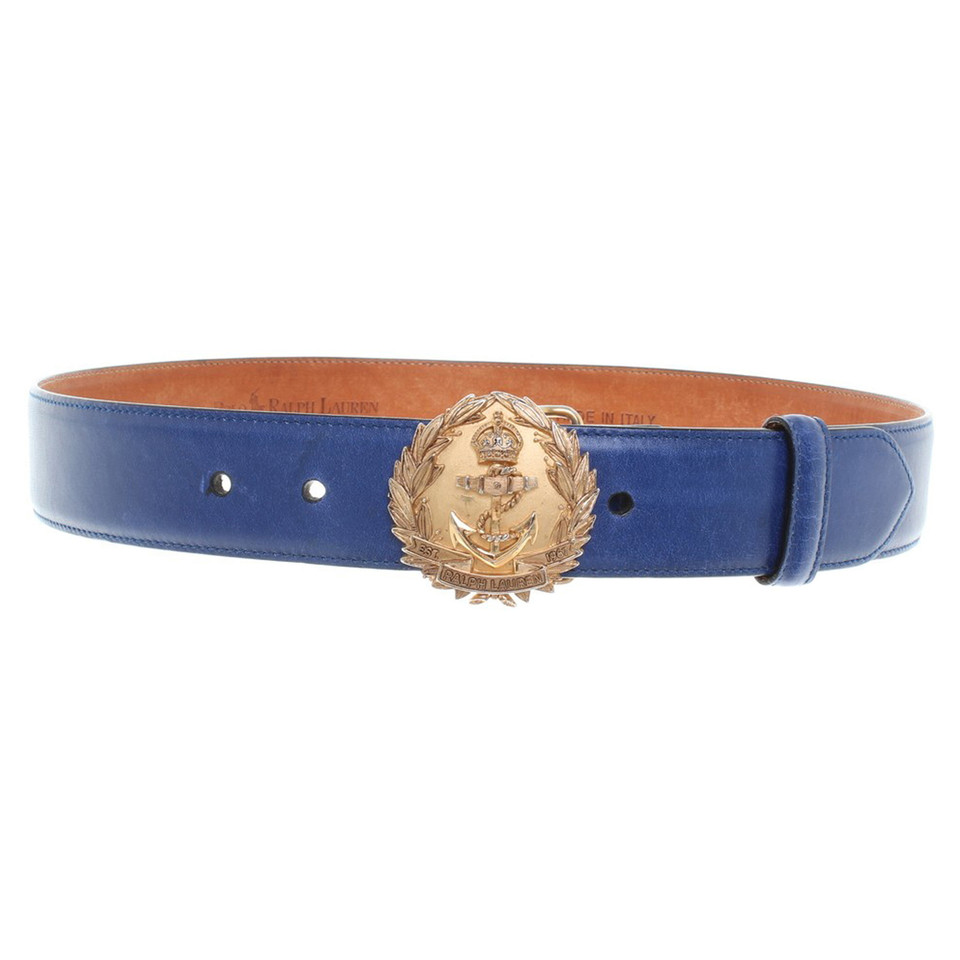 ralph lauren belt in blue buy second hand ralph lauren. Black Bedroom Furniture Sets. Home Design Ideas