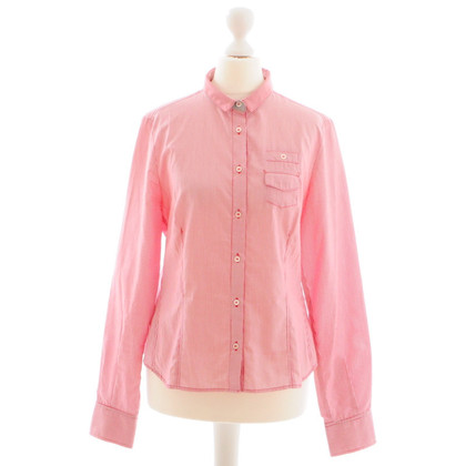 Fay Shirt blouse streep rood/wit Gr.M