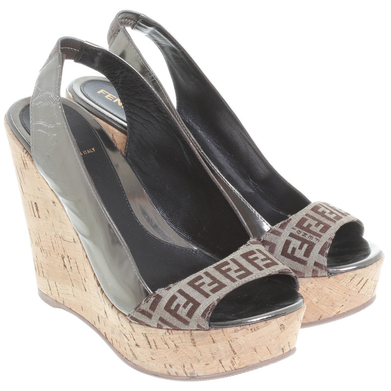 Fendi Peeptoe wedges