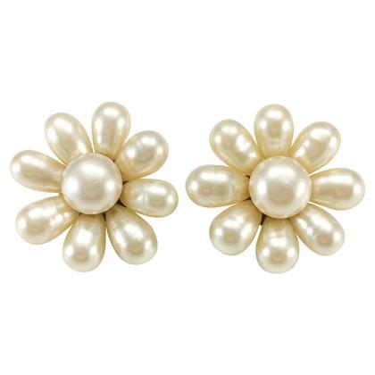 Chanel Earclips in flower shape