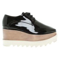 Stella McCartney Lace-up patent leather
