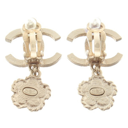 Chanel Ear clips with pendant