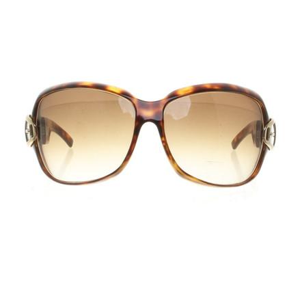 Gucci occhiali da sole marroni scuri