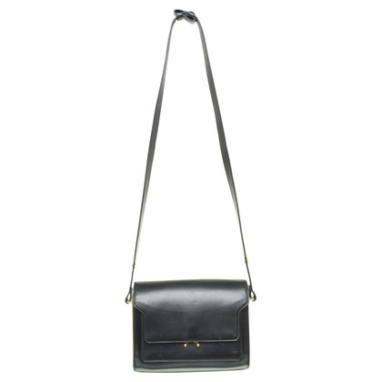 "Marni ""Trunk Bag"" in black leather"