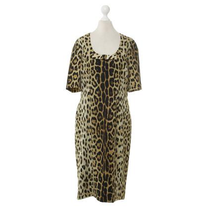 Moschino Cheap and Chic Korte mouwen jurk met luipaard print