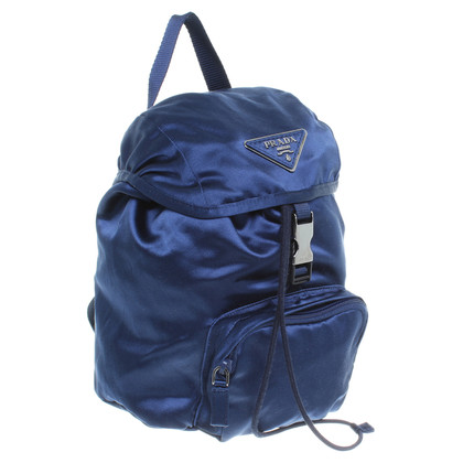 Prada Satinrucksack in Blau