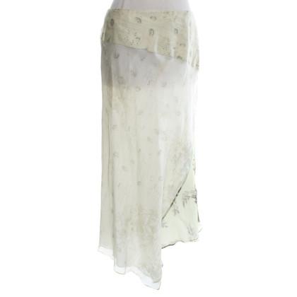 Kenzo jupe en soie avec motif