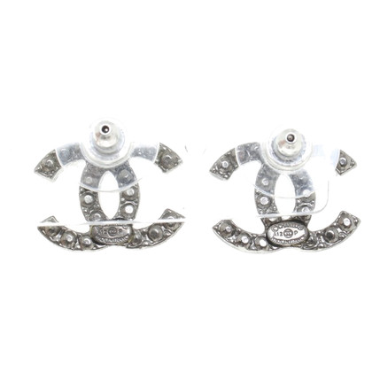 Chanel Silver colored stud earrings