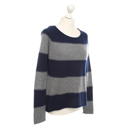 Autres marques Heartbreaker - Pull avec motif rayé en bleu / gris foncé