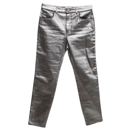 Sonia Rykiel trousers in Silver / Metallic