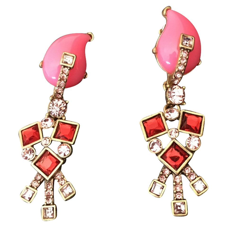 Oscar de la Renta Floral resin earrings