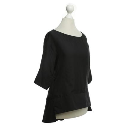 Schumacher Asymmetrical blouse in black