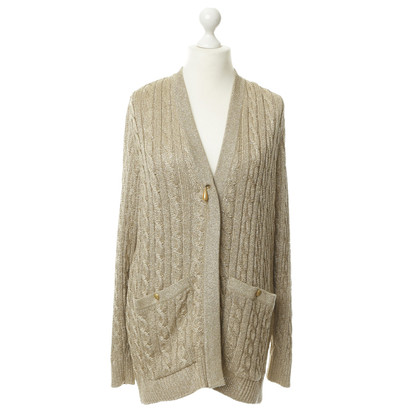 Other Designer Umberto Ginocchietti - knit jacket in gold