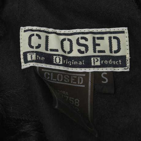 Closed Closed Schwarz in Schwarz Lammfellweste Lammfellweste U545qwaS6