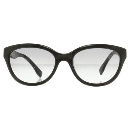 Emilio Pucci Zonnebril in zwart / White