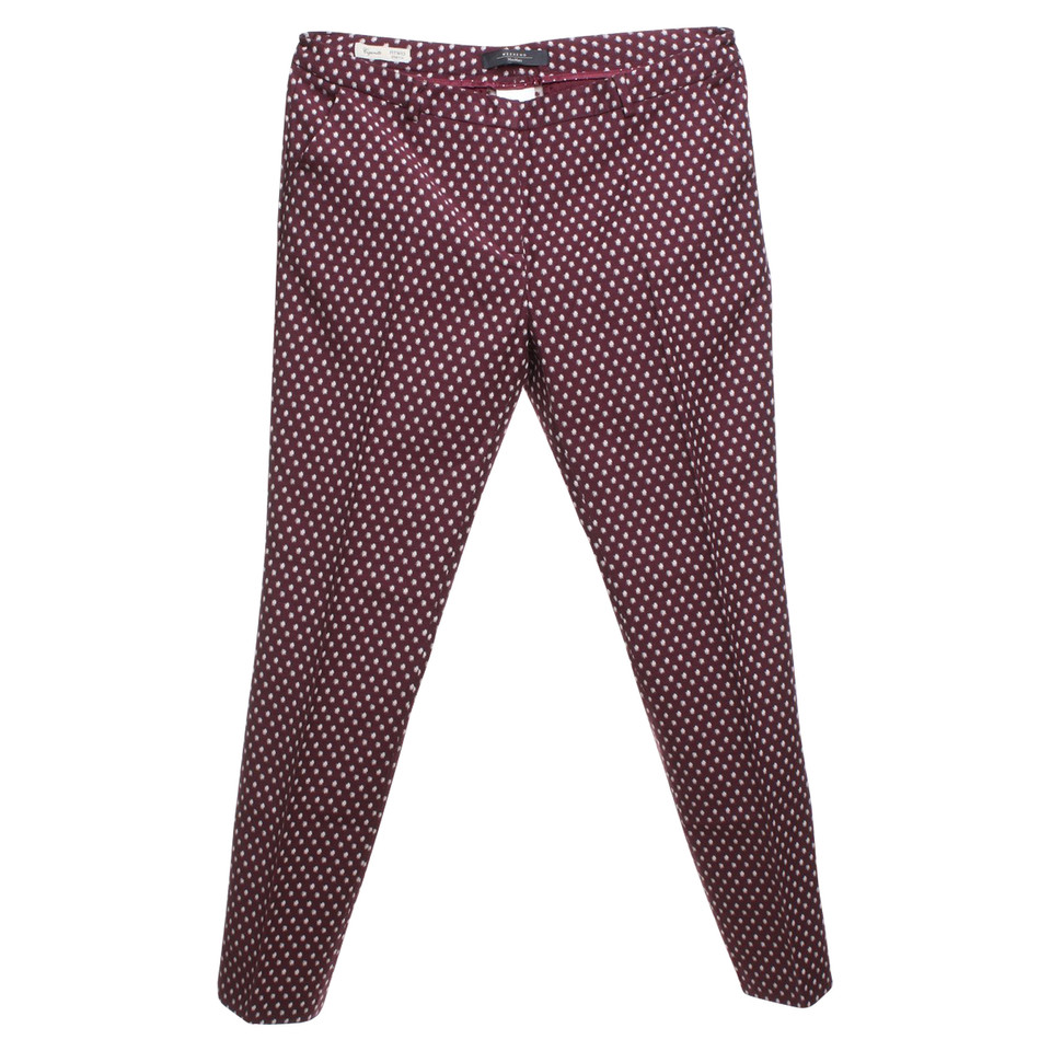 Max Mara trousers in Bordeaux / white