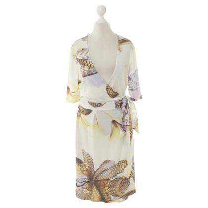 Roberto Cavalli wrap dress modelée