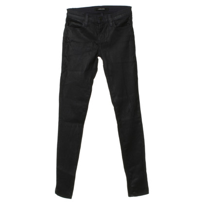 J Brand blue jeans with coating