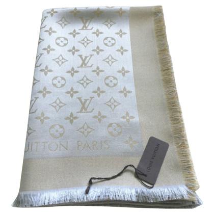 Louis Vuitton Monogram-Shine-Tuch in Beige/Silber