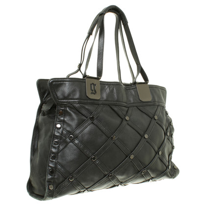 John Galliano Borsa con borchie in Black