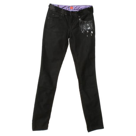 Boss Orange Jeans mit Pailletten Schwarz