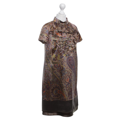 Etro paisley patroon zijden jurk