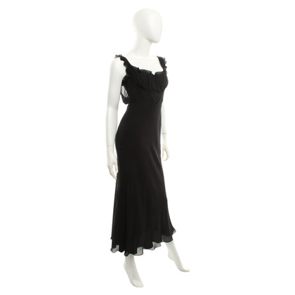 Moschino Cheap and Chic Seidenkleid in Schwarz
