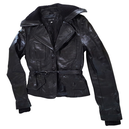 Patrizia Pepe Bekleed Leather Jacket