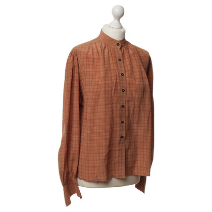 Jil Sander Blusa in seta con Plaid