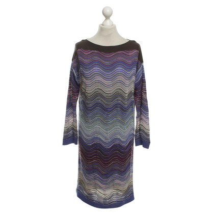 Missoni vestito lavorato a maglia in multicolor