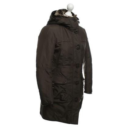 Peuterey giacca trapuntata con pelliccia