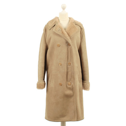 Gucci Sheepskin coat in camel