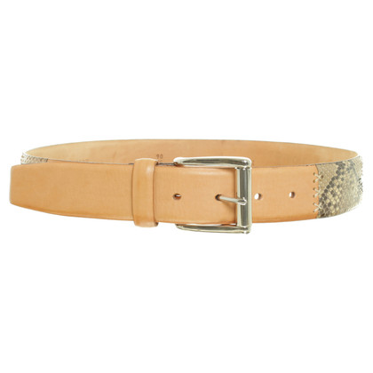 Other Designer Hemisphere - belt with reptile leather