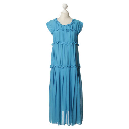 Bottega Veneta pleats dress in blue