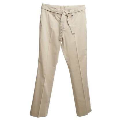 Bogner Pleated trousers in beige long