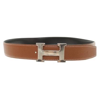 Hermès reversible belt in brown / black