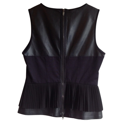 Stefanel Top with synthetic leather