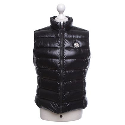 Moncler gilet Down in nero