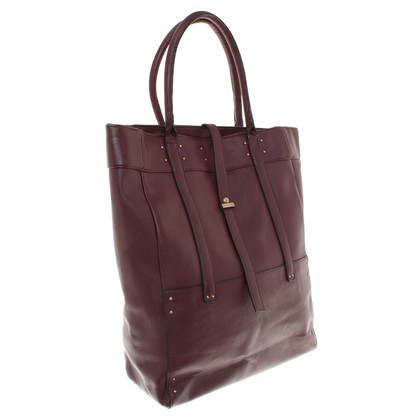 Stefanel Tote Bag in Bordeaux