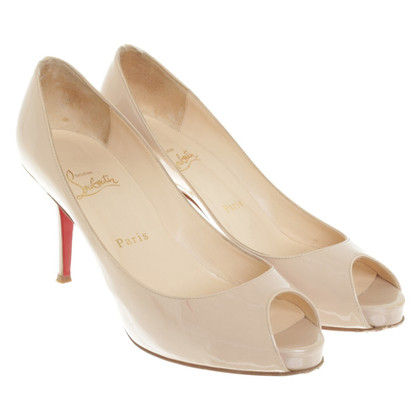 Christian Louboutin Peeptoes in nude