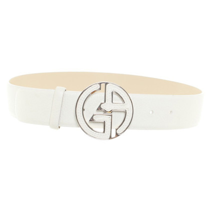 Armani Belt in cream